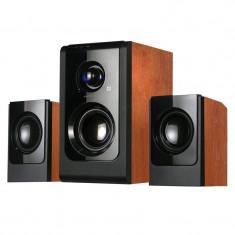 Boxe multimedia Serioux HT2100C, carcasa lemn