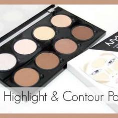 Paleta pentru conturarea fetei Nyx Highlight& Contour Pro Palette - Trusa make up Nyx Cosmetics