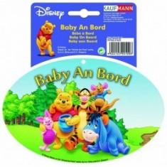 Abtibild pentru luneta Winnie the Pooh Baby An Bord, stickere auto, 17x15x0, 1 cm - Stickere tuning
