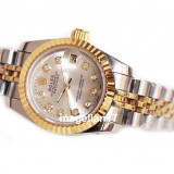 Date-Just Automatic Silver and Gold for Ladies ! ! Calitate Premium !, Lux - elegant, Mecanic-Automatic, Inox