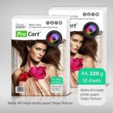 Hartie FOTO Art A4 textura cu DUNGI MATA 220g, ProCart