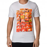 Tricou Nike V ShoeB masura M - Tricou barbati Nike, Marime: M, Culoare: Alb, Maneca scurta, Bumbac