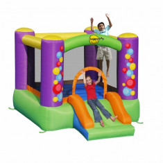 Saltea gonflabila Baloane cu Tobogan Happy Hop - Casuta copii