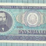 Bancnota 100 lei 1966 seria-B0180 ...888 - Bancnota romaneasca