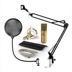 Auna MIC 900G microfon USB set microfon condensator V4 + microfon auriu