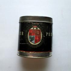 Cutie de tabla pentru tutun, veche: Peer Tropen-Packung