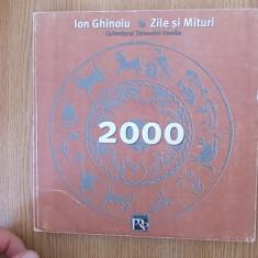 ION GHINOIU- ZILE SI MITURI, CALENDARUL TARANULUI ROMAN - Carte folclor