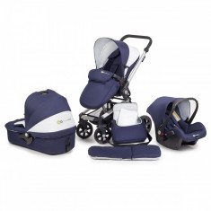 Carucior pentru copii 3 in 1 Kinderkraft kraft 6 plus albastru