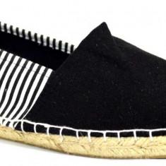 Espadrile barbatesti negre cu dungi verticale - Espadrile barbati, Marime: 39, 40