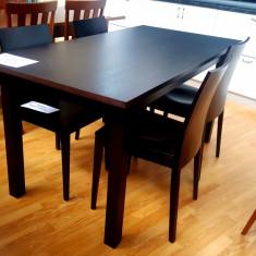 Masa extensibila lemn 160cm(200 cm)/80 cm- wenge - Masa living