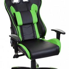 Scaun birou gaming directorial sport piele Gran-Gio Negru-Verde - Scaun gaming