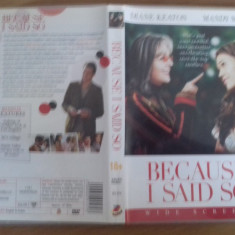 Because i said so – DVD [A] - Film romantice, Engleza