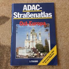 ADAC Strassenatlas Ost Europa ghid harti auto europa de est calatorie hobby - Ghid de calatorie