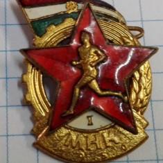 Insigna Ungaria MHK (Gata pt. munca si lupta) 1950 loc I