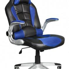 Scaun birou gaming directorial sport piele Rekaro Negru-Albastru - Scaun gaming