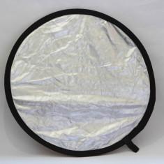 Blenda foto 50cm / 2 fete / Argintiu-Auriu - Echipament Foto Studio