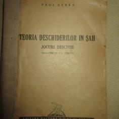 Teoria deschiderilor in sah . Jocuri deschise - Paul Keres, 1952 - Carte sport