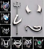 Sticker/Logo Metalizat 3D Devil/Dracusor Auto VW,Mazda,Honda,Bmw,Skoda,Opel