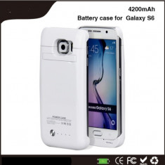 Baterie externa power case 4200 mah Samsung Galaxy S6 \ s6 edge alba