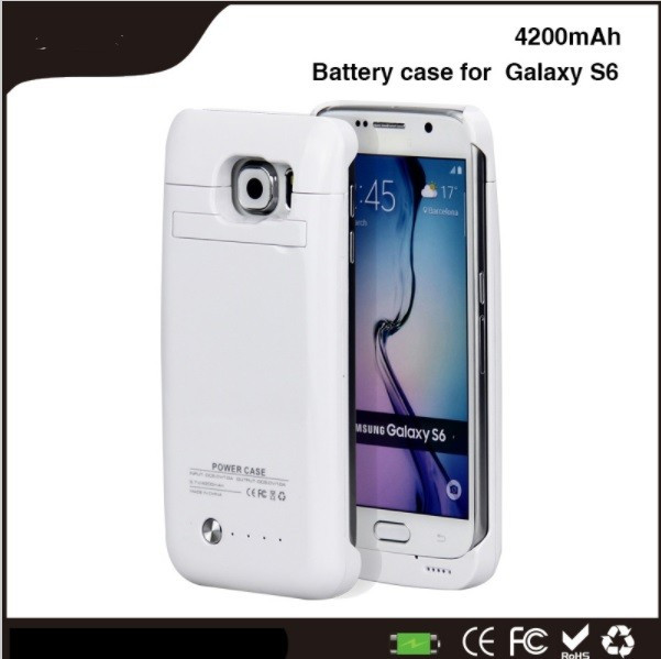 Baterie externa power case 4200 mah Samsung Galaxy S6 \ s6 edge alba