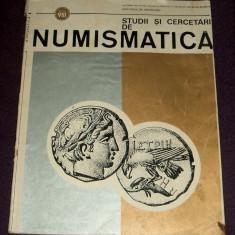 Studii si cercetari de numismatica vol. VIII / 1984, arheologie, monede vechi