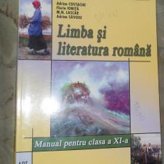 LIMBA SI LITERATURA ROMANA - CLASA XI -A - ADRIAN COSTACHE - 2008 - Manual scolar art, Clasa 11, Art