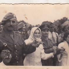 Bnk foto - Ofiteri romani vanatori de munte - Lapusel 1939, Alb-Negru, Militar, Romania 1900 - 1950