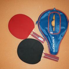 Set Ping Pong Tenis De Masa Tecno Pro - 2 Palete, Husa + 3 Mingi - Paleta ping pong