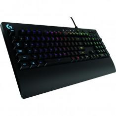 Tastatura gaming Logitech G213 Prodigy, Palm Rest, Iluminare LED RGB, Negru - Tastatura PC Logitech, Cu fir, USB