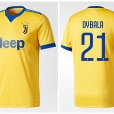 Tricou JUVENTUS model nou 2018 AWAY, 21 DYBALA - Tricou echipa fotbal, Marime: L, S, XL, XXL, Culoare: Din imagine, De club, Maneca scurta
