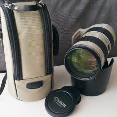Vand Obiectiv Canon 70-200mm 2.8 L IS USM (cu stabilizare) - Obiectiv DSLR