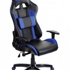 Scaun birou gaming directorial sport piele Gran-Gio Negru-Albastru - Scaun gaming
