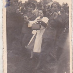 Bnk foto - Ofiteri romani vanatori de munte - Lapusel 1939 - Fotografie, Alb-Negru, Militar, Romania 1900 - 1950