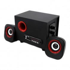 Mini boxe multimedia FNT, USB, micro SD, Negru