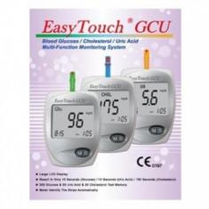 Aparat masurat glicemie, colesterol, acid uric EasyTouch GCU