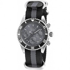 Nvicta Men's Pro Diver 40mm Two Tone Cloth Band Steel Case Quartz Charcoal Dial Analog Watch 19534 Produs l - Ceas barbatesc Invicta