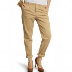 Pantaloni Lungi Bumbac Vero Moda Star Canvas Chino Bej - Pantaloni dama Vero Moda, Marime: 34, 36, 38