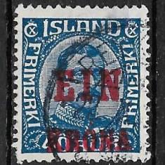 Islanda 1926, Stampilat