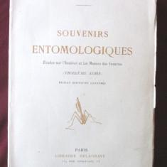 Carte veche: SOUVENIRS ENTOMOLOGIQUES - III,  J.-H. Fabre, 1930. In lb franceza, Alta editura
