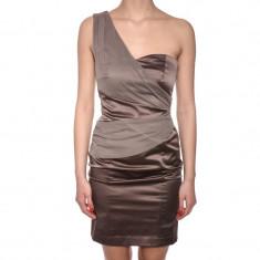 Rochie Vero Moda Elvira One Shoulder Bej - Rochie de seara Vero Moda, Marime: 36, 38, 40, 42, Culoare: Maro