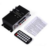 Statie amplificare 2.1 2X15w 9v-12v auto masina telecomanda usb sd card