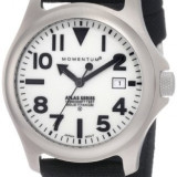 Momentum Men's 1M-SP00W6B Atlas White Dial Black Cordura Watch Produs la comanda [TEST TEXT] - Ceas barbatesc