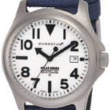 Momentum Men's 1M-SP00W6U Atlas White Dial Blue Cordura Watch Produs la comanda [TEST TEXT] - Ceas barbatesc