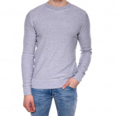 Pulover Bumbac Jack&Jones Tom Crew Neck Gri Deschis