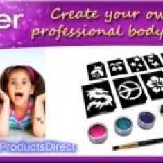 Kit pentru tatuaje cu sclipici Shimmer Glitter Tattoos - Face painting copii