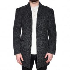 Palton Lung Lana Barbati C&A Erwin Dark Grey - Palton barbati, Marime: L, XL, Culoare: Gri