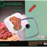 Tigaie Grill cu capac si strat ceramic Grunberg CXG2424LD
