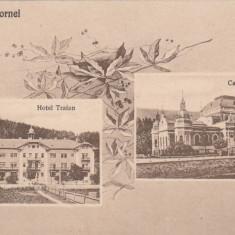 VATRA DORNEI BUCOVINA HOTEL TRAIAN SI CASINOUL BALNEAR NECIRCULATA - Carte Postala Bucovina dupa 1918, Printata