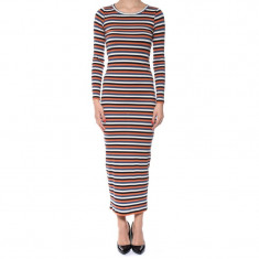 Rochie Lunga Bumbac Only Lilly Pumice Stone Stripes Multi - Rochie de seara Only, Marime: S, Culoare: Multicolor