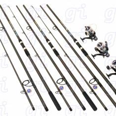 Set Crap 3 lansete FINO CARP 3,9 m cu 3 mulinete EASTSHARK SW60 cu 10 rulmenti